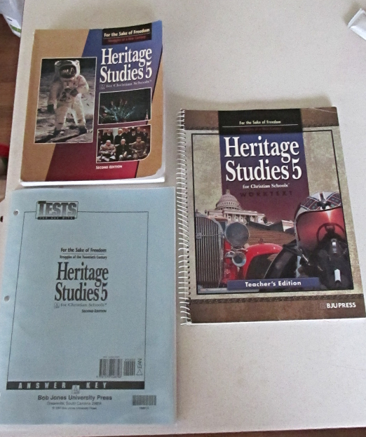 Heritage Studies 5 Second Edition BJU Press Student TextBook Test Answer Key