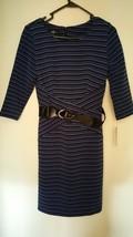 AGB WOMENS BLACK Spliced FLOWY DRESS W/ BELT NWT SIZE 6  - $17.31