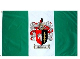 Sellmeyer Coat of Arms Flag / Family Crest Flag - $29.99