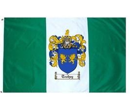 Trohey Coat of Arms Flag / Family Crest Flag - $29.99