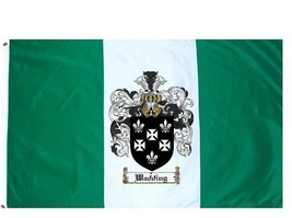 Wadding Coat of Arms Flag / Family Crest Flag - $29.99