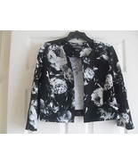 Jessica Howard New Womens Black/Ivory Floral Print 3/4 Sleeve Jacket     6 - $27.99