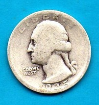 1945 S Washington Quarter (Silver) Significant Wear - $7.00