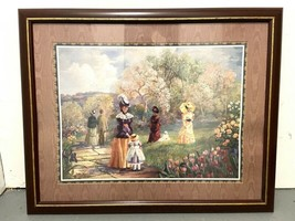 Homco A Stroll After Churh Bettie Herbert Felder Thru God's Grace framed... - $69.95