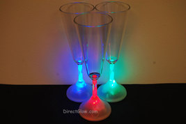 Set of 2 LED Light Up 6oz Champagne Glasses - $9.50