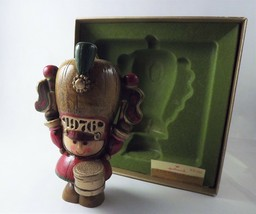 Hallmark Ornament Vintage Christmas Marching Band Drummer 70s Yesteryear Wooden - $19.80