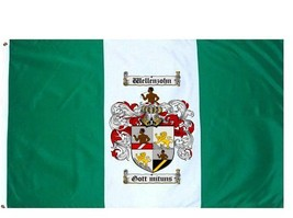 Wellenzohn Coat of Arms Flag / Family Crest Flag - $29.99