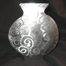 Hand Crafted Retro Metal Art Vase sculpture Candle Holder Si - $24.50