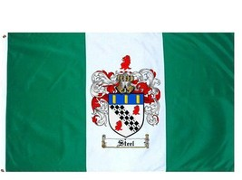 Steel Coat of Arms Flag / Family Crest Flag - $29.99