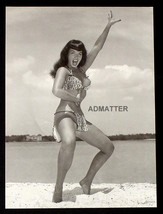 "BETTIE PAGE  VINTAGE 9""X12"" PIN-UP IN LOINCLOTH EXOTIC BATHING SUIT BEAC... - $7.59"