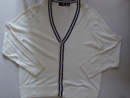 White long sleeve Cardigan sweater Madison button up cardigan sweater sw... - $18.61