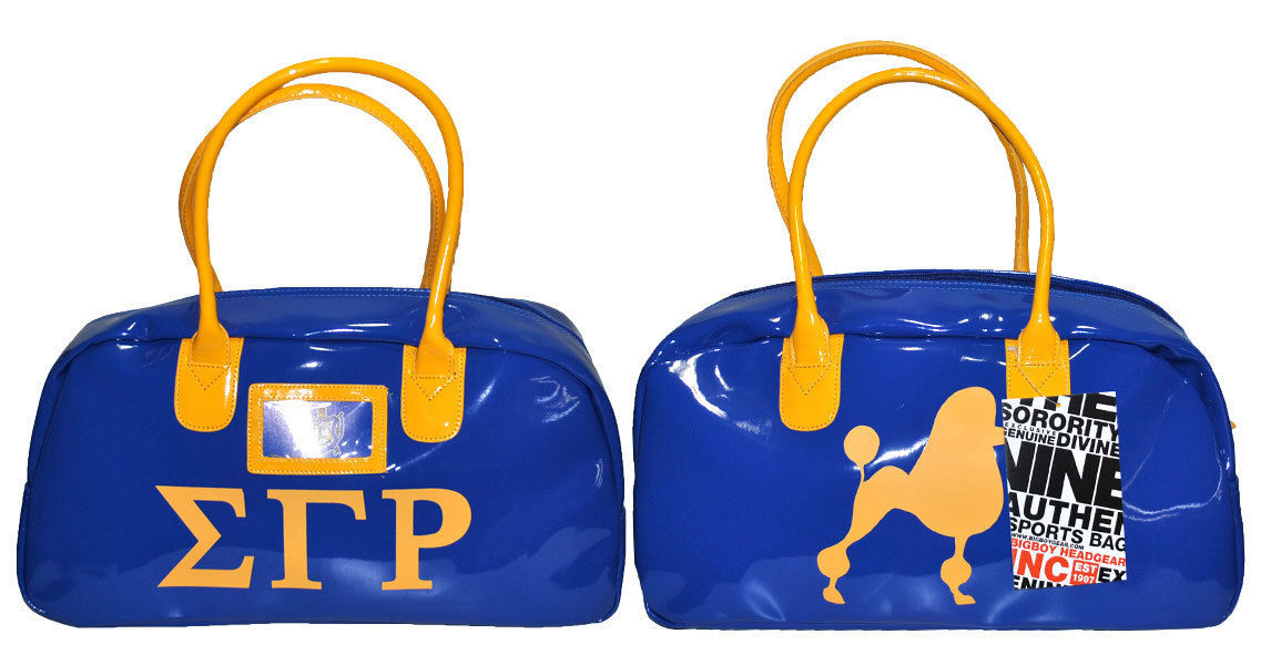 fe67a5dde2 SIGMA GAMMA RHO BLUE GYM BAG DUFFEL GYM BAG TOTE YOGA SPORTS SORORITY GYM  BAG