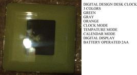 Design Factory Desktop Clock Calendar Thermometor Digital Alarm Clock Ne... - $4.66