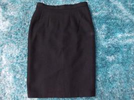 Womens black wool skirt Wool Skirt Womens Wool Pleated Skirt 28W - $14.89