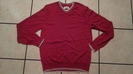 Red long sleeve V neck sweater Red Camel Mens long sleeve V-neck sweater L - $5.00