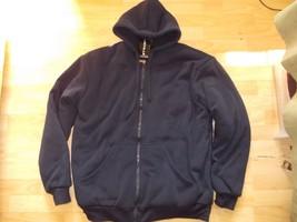Navy Blue Zip Up Hoody Jacket Heavy weight Lined inside hoody Hoodie jac... - $30.00