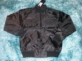 Mens black military style nylong jacket Black casual piolet style jacke ... - $18.61