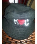 Women's Black Rocawear Bucket Hat Hearts Terry Cloth Bucket Hat One size... - $19.59