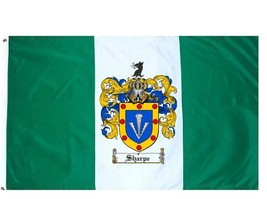 Sharpe Coat of Arms Flag / Family Crest Flag - $29.99
