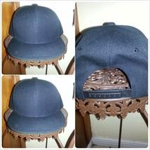 Black Snap back Baseball Hat  Unisex Black Snap back  baseball Cap - $9.31
