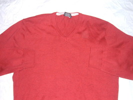 Burgundy long sleeve V neck sweater by WXY Burgandy long sleeve V neck s... - $14.25