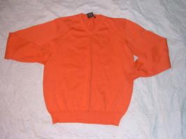 Orange long sleeve V neck sweater by WXY Orange long sleeve sweater Larg... - $20.75