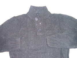 Mens gray long sleeve sweater by Johnny J Dark gray long sleeve sweater ... - $22.79