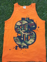Camouflage Dollar sign sleeveless tank top Orange dollar sign tank top  M - $13.30