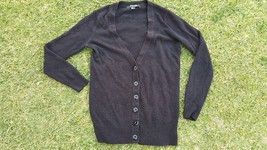 Black Long Sleeve Cardigan Sweater Forever 21 Used Black soft cotton car... - $24.70