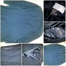 Mens Black Pin Stripe Blazer Jacket Sport Coat MILANO-ITALY Suite Coat 46L - $18.62