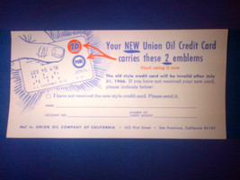 1966 August 76 Union Oil Company of California National Credit Card appl... - $9.31