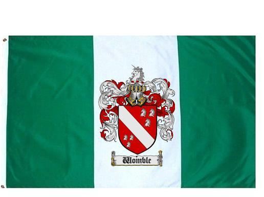 Wombel Coat of Arms Flag / Family Crest Flag