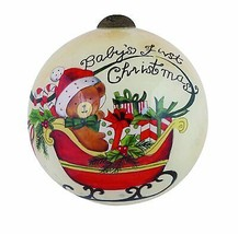 Baby's First Christmas Ornament Ne'Qwa Art New Susan Winget Reverse Glas... - $24.74