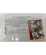Signed Willie Jackson Football Card and Action Jackson Fan Club Sign Up ... - $19.79