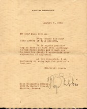 FLOYD GIBBONS Autograph letter, nicely signed - $19.79