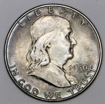1950 Franklin Half Dollar; F.B.L., Choice Unc.; Nice Original Toning  - $49.49