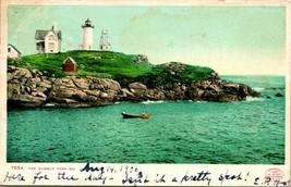 Vtg Postcard York Maine ME 1906 UDB Nubble Lighthouse Detroit Photographic Co - $27.95