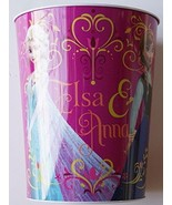 Frozen Elsa Anna Pink Garbage Trash Can Waste Basket - $13.81