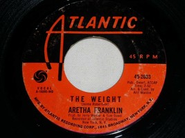 ARETHA FRANKLIN THE WEIGHT TRACKS OF MY TEARS 45 RPM RECORD VINYL ATLANT... - $14.99