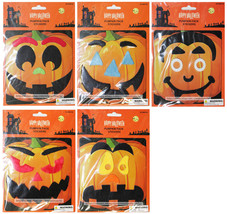 MOMENTUM 6pc PUMPKIN FACE STICKERS Decorations HAPPY HALLOWEEN New! *YOU... - $2.96