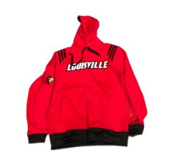 NWT New Louisville Cardinals adidas 3 Stripe Pullover Hooded Small Sweatshirt - $49.45
