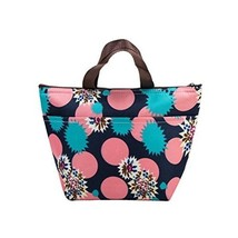 NEW Portable Lunch Bags Women Adults Insulated Zip Cooler Oxford Cloth F... - $12.06