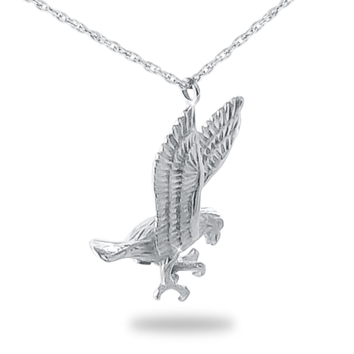 Small/Keepsake Silver Eagle Pendant Funeral Cremation Urn for Ashes image 2