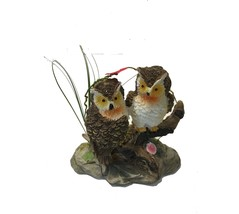 PAIR OF OWLS IN GRASS COLLECTIBLE ORNAMENT - $6.19