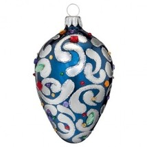 """Waterford Holiday Heirlooms 3"""" Sapphire Scroll Egg 2013 Ornament New In Box - $122.02"""
