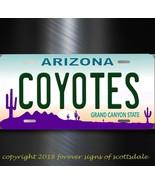 Arizona Coyotes NHL Hockey Team Arizona Aluminum Vanity License Plate Tag - $12.82