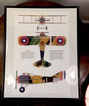 WW1, WWI Fighter Bi Plane, Airplane Poster Illu... - $29.06