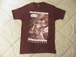 Star Wars Disney World 2014 Passholder Mickey Mouse in X-Wing Brown Shirt Size L - $13.09