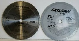 "Lot Of 2 -7 1/4"" SkilSaw Blades 140T Classic Series 150 Steel Plywood Pa... - $23.36"