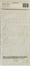 """American Crafts Thickers White Gitter Foam Letter Stickers in """"Imprint"""" image 2"""